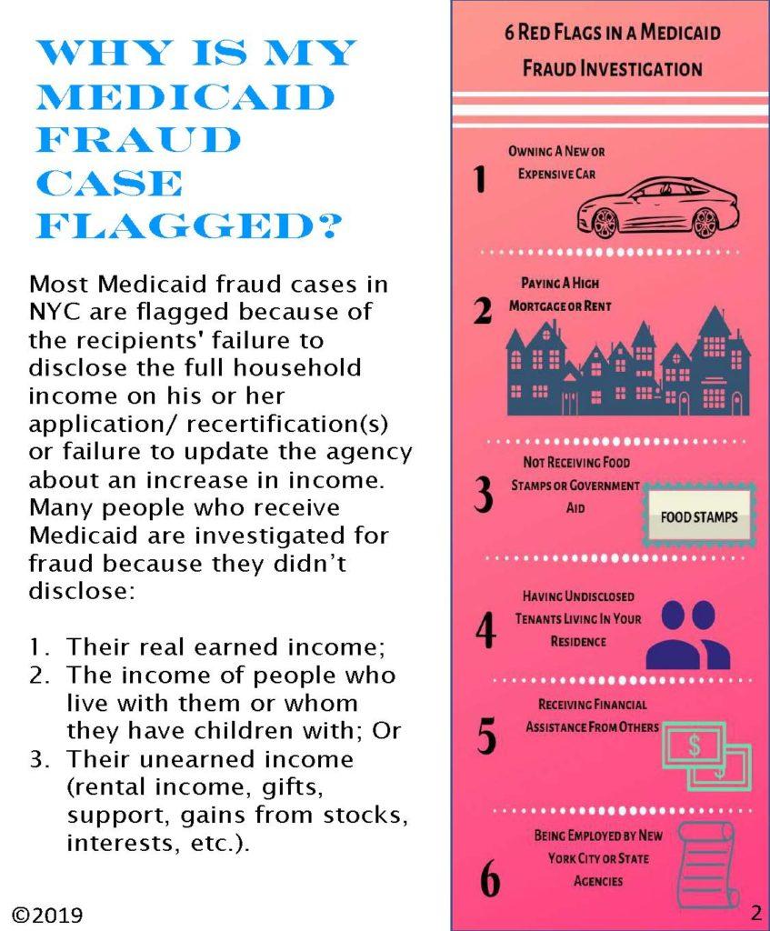 Why is my medicaid fraud case flagged?